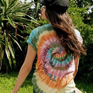 Daydreamer Tops - Daydreamer Rolling Stones Tie Dye Oversized Tee